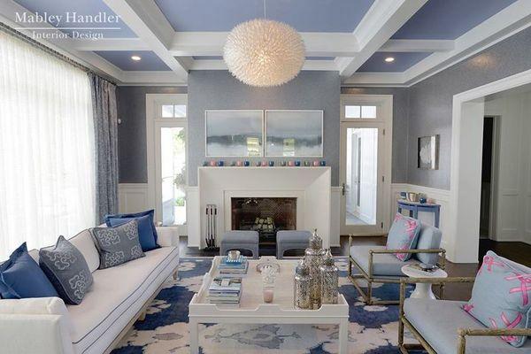 Poprawiona styl hamptons for Hamptons living room designs